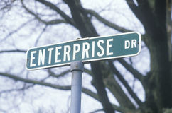 A sign that reads �Enterprise Dr� Stock Image