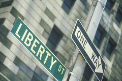 A sign that reads Liberty Street Royalty Free Stock Image
