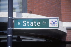 A sign that reads �N. State St� Royalty Free Stock Photos