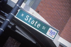 A sign that reads �N State St� Stock Photos