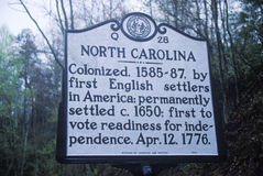 A sign that reads �North Carolina� Stock Photography