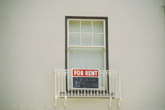 A sign that reads �For Rent� Stock Image