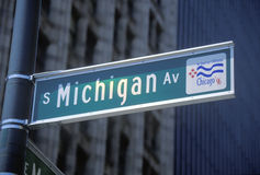 A sign that reads �S Michigan St� Stock Photography