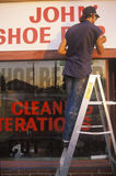 A sign that reads Shoe Repair Royalty Free Stock Photo