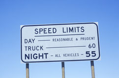 A sign that reads �Speed Limits� Royalty Free Stock Images