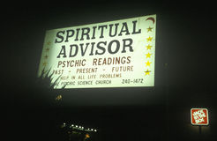 A sign that reads �Spiritual Advisor� Stock Photos