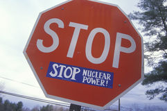 A sign that reads �Stop Nuclear Power� Stock Photography