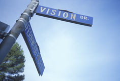 A sign that reads �Visions Dr� Royalty Free Stock Photos