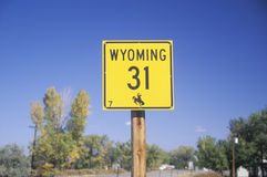 A sign that reads �Wyoming 31� Stock Photos
