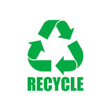 Sign of recycling. Isolated on background. Vector illustration. Eps 10 Stock Photography
