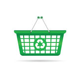 Sign for recycling vector on a green basket Royalty Free Stock Photo