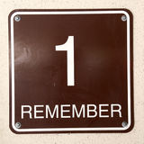 Sign 1 Remember Stock Photos