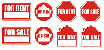 Sign for rent and for sale + vector file Royalty Free Stock Image