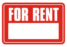 Sign for rent + vector file Royalty Free Stock Photos