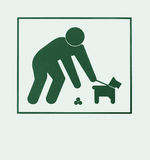 Sign requiring dog owners to pick up Royalty Free Stock Image
