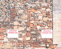Sign 'Reserved Parking For; with empty space for your text mount Royalty Free Stock Photos