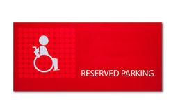 The Sign of reserved parking for handicap Royalty Free Stock Photo