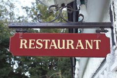Sign. Restaurant. Restaurant sign Stock Images