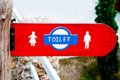 The Sign of restroom. For men and women Stock Photography