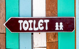 Sign restroom of  men and women Stock Photography