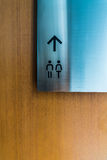 Sign restroom Royalty Free Stock Image