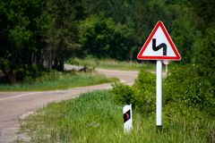 Sign on road royalty free stock photo