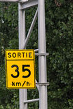 Sign. A road sign along the highway Royalty Free Stock Photography