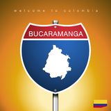 The City label and map of Colombia In American Signs Style Stock Photo