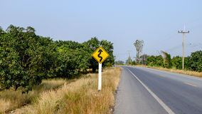 The sign road stock photography