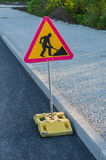 Sign of road renovation Royalty Free Stock Images