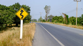 Sign road Royalty Free Stock Photos