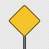 symbol sign road yellow on transparent background vector illustration