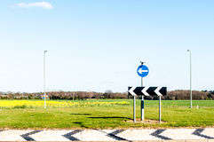 Sign for roundabout Royalty Free Stock Photography