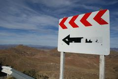 Sign on the route Royalty Free Stock Photo