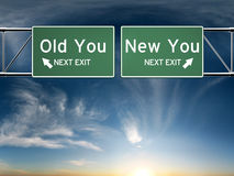 New you, old you Stock Photography