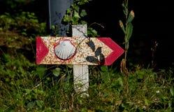 Sign of Saint Jacques de Compostelle Stock Image