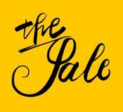 Sign The Sale, icon for web, label, icon, minimal dynamic design. Limited Offer Mega Sale banner. Sale poster. Hand drawn de royalty free illustration