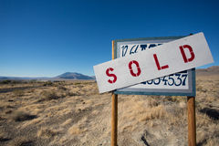 Sign for sale in Nevada Stock Photo