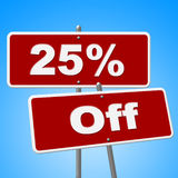 Sign Sale Represents Twenty Five And Retail Royalty Free Stock Images
