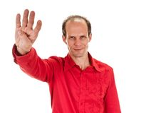 man makes hand  sign salute Royalty Free Stock Photography