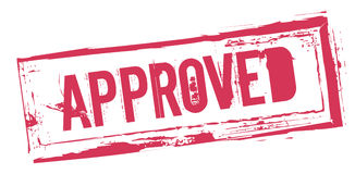Sign saying 'approved' Royalty Free Stock Photography