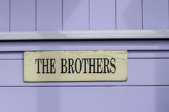 Sign saying brothers Royalty Free Stock Photo