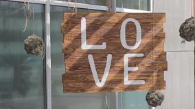 Sign saying love stock footage