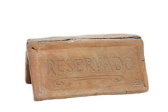Sign saying Reservado for Reserved Stock Image