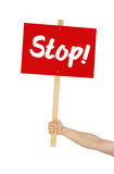 Sign saying Stop Royalty Free Stock Photo