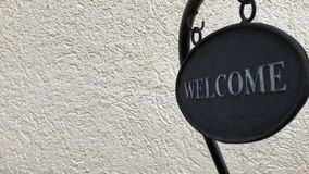 Sign saying `Welcome`. stock video