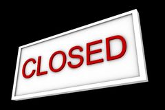 Sign says closed. An informative sign says closed Royalty Free Stock Image