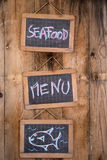 Sign seafood Royalty Free Stock Photos