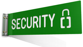 Sign on Security Department office wall Royalty Free Stock Photos