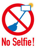 Sign of Selfie stick ban Royalty Free Stock Photo